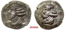 Ancient Coins - 877KH7Z) KINGS of PERSIS. Pakōr (Pakor) II. 1st century AD. AR Hemidrachm (18 mm, 1.90 g). Istakhr (Persepolis) mint. Diademed bust left / Diademed bust left. Cf. K&M 4/32c (drachm