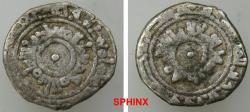 World Coins - 590RM19) Fatimid Al-MU-IZZ LEDIN ELLAH AL-FATEMY, 341-365 AH / 953-975 AD; Full name : MA'AD AL-MANSUR ABU TAMIM AL-MU'EZZ. AR 1/4 Dirham, 0.69 grms, 13 mm NM, ND, A-700 (SCARCE),