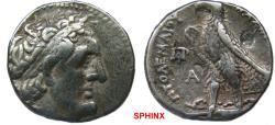 Ancient Coins - 1271RF) PTOLEMAIC KINGS of EGYPT. Ptolemy II Philadelphos. 285-246 BC. AR Tetradrachm (25 mm, 14.18 g). Alexandreia mint. Diademed head of Ptolemy I right / Eagle standing left on