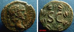 Ancient Coins - 764FG8) SYRIA, SELEUCIA AND PIERIA, ANTIOCH ON THE ORONTES, TRAJAN. 98-117 AD, AE 28 MM, 12.27 GRMS, BUST OF TRAJAN LAUREATE HEAD RIGHT, REV SC WITHIN LAUREL WREATH, YEAR 9 OR NINT