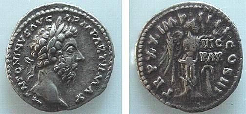 Ancient Coins - 344FG) MARCUS AURELIUS, 161-180 AD, AR DENARIUS, ROME 166 AD, 18.50 MM DIA, 3.28 GRAMS, RSC 878, RIC 163, IN VF+ CONDITION.