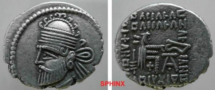 Ancient Coins - 805CEH8) KINGS of PARTHIA. Pakoros II. AR DR VF RARE