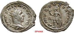Ancient Coins - 587EH0Z) PHILIP I. 244-249 AD. AR Antoninianus (4.60 gm, 25 MM). Struck 248 AD. IMP PHILIPPVS AVG, radiate, draped, and cuirassed bust right / PM TR P V COS III P P, Mars standing