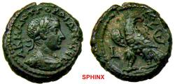 Ancient Coins - 1062LM18) EGYPT, Alexandria. Gordian III. AD 238-244. BI Tetradrachm (21 mm, 14.45 g). Dated RY 5 (AD 241/2). Laureate, draped, and cuirassed bust right / Eagle standing left, head