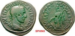 Ancient Coins - 10AK8FM) THRACE Anchialos Maximinus I AD 235-238. Bronze (AE; 27-28mm; 10.45g; 2h) AVT MAΞIMEINOC EVCEBHC AVΓ (partly ligate) Laureate and draped bust of Maximinus to right. RARE