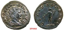 Ancient Coins - 84FB0Z) Claudius II Gothicus (268-270 AD), AE Antoninianus, 23 mm, 3.65 grms, Rome mint; Obverse: IMP C CLAVDIVS AVG, Radiate draped and cuirassed bust right. Reverse: GENIVS EXERC