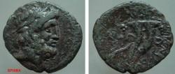 Ancient Coins - 839FG8) PHOENICIA, MARATHUS, SECOND CENT. BC, AE 21 X 22 MM, 5.08 GRMS, LAUREATE HEAD OF ZEUS RIGHT, REV. DOUBLE CORNUCOPIAE;  SNG COP. 169-172, IN aVF COND.
