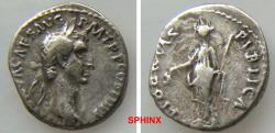 Ancient Coins - 233GG18) Nerva. AD 96-98. AR Denarius (17.5 mm, 3.17 g). Rome mint. Struck AD 97. Laureate head right / Libertas standing left, holding pileus and scepter. RIC II 31; RSC 117. VF,