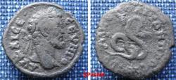 Ancient Coins - 780EE0) Thrace, Moesia Inferior, NIKOPOLIS AD ISTRVM, SEPTIMIUS SEVERUS (193 - 211 A.D.), AE 17 mm, 2.41 grms, Obv: AV KAI CE CEVHPO, laureate head right / FINE+