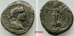 Ancient Coins - 250GH18) EGYPT, Alexandria. Vespasian. AD 69-79. BI Tetradrachm (27 mm, 12.31 g). Dated RY 2 (AD 69/70). Laureate head right; L B (date) below chin / Nike advancing left, holding w