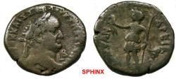 Ancient Coins - 251GH18) EGYPT, Alexandria. Vespasian. AD 69-79. BI Tetradrachm (26 mm, 12.05 g). Dated RY 2 (AD 69/70). Laureate head right; L B (date) below chin / Alexandria standing left, hold