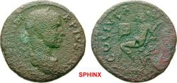 Ancient Coins - 28AK8FM)  MACEDONIA Pella Severus Alexander AD 222-235. Bronze (AE; 25mm; 7.95g; 12h) [IMP ALEXAN]DE-R PIVS [AVG] Laureate and   draped bust of Severus Alexander to right.