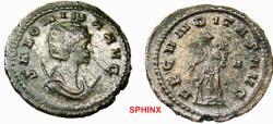 Ancient Coins - 82FB0Z) Salonina (260-268 AD), AE Antoninianus, 23 mm, 4.11 grms, Rome mint, Obverse: SALONINA AVG, Draped bust right on crescent. Reverse: FECVNDITAS AVG, Fecunditas standing left