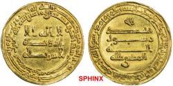 World Coins - 443EGK19) ABBASID: al-Muktafi, 902-908 AD, AV dinar (3.39g), Misr, AH 292, A- 243.1, choice EF.