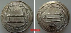Ancient Coins - 666EG6) THE ABBASID CALIPHATE, FIRST PERIOD : AL-MA'MUN, 194-218 AH / 810-833 AD, AR DIRHAM STRUCK AT THE MINT OF MADINAT AL-SALAM (PRESENT DAY BAGHDAD) IN THE YEAR 203 AH ALBUM TY