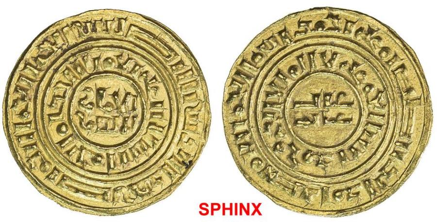 World Coins - 918FKH19) CRUSADER KINGDOMS: AV bezant (3.44 grms), NM, ND (ca. 1190-1260), Ma-5, A-730, derived from type A-729 of the Fatimid ruler al-Âmir, superb strike, assigned to Jerusalem,