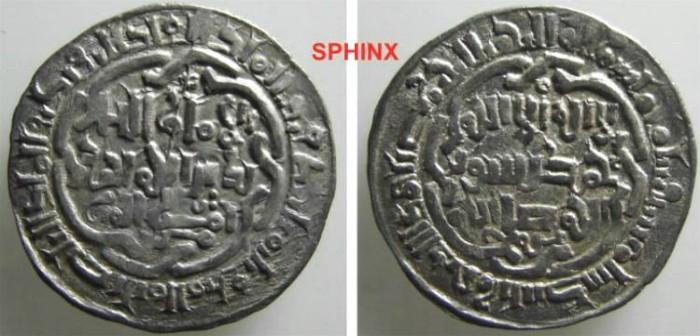 Ancient Coins - 54MM8) AYYUBIDS OF YEMEN, AL-NASER AYYUB, AR DIR XF SCARCE