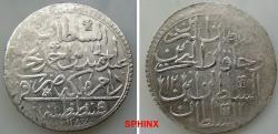 World Coins - 927EF18) OTTOMAN EMPIRE, Sultan Abdul Hamid I, 1187-1203 AH / 1774-11789 AD, AR 2 Kurush (2 Zolota),44   mm, Diameter, 26.16 grms weight, dually dated accession year 1187 VF+