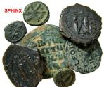Ancient Coins - 630BL21) Study group of 7 Byzantine bronzes : various sizes; most identifiable; No return on this lot;