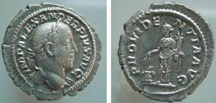 Ancient Coins - 1205HB) SEVERUS ALEXANDER, 222-235 AD, AR DENARIUS, ROME, 20 MM, 3.42 GRAMS, RSC 501, RIC 250, IN SUPERB XF CONDITION.