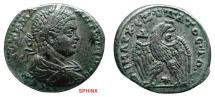 Ancient Coins - 500KH7) SYRIA, ANTIOCH, ELAGABALUS, AD 218-222, AR TETRADRACHM, LAUREATE AND DRAPED BUST RIGHT / EAGLE RIGHT, WREATH IN BEAK AND STAR BETWEEN LEGS, cif PRIEUR # 275, SHARP VF.