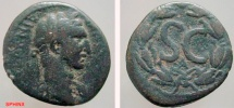 Ancient Coins - 702FG8) Syria, Seleucis and Pieria. Antioch ad Orontem. Nerva. A.D. 96-98.AE 20 mm (5.8 grms). Laureate head right / S C, A below = FIRST ISSUE; all within laurel wreath. BMC 260 v