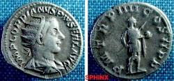Ancient Coins - 759GM8)  GORDIAN III, 238-244 AD, AR ANTONINIANUS (DOUBLE DENARIUS), RSC-253 , RIC-92, IN VF CONDITION, AND NICE TONE.