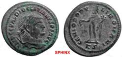 Ancient Coins - 841GM) DIOCLETIAN, 284-305 AD AE follis, 27.5 x 30 mm, 10.48 grms. minted at Cyzicus 295-296 AD. OBV. Laureate Diocletian facing right, IMP CC VAL DIOCLETIANUS PF AUG. REV. Genius