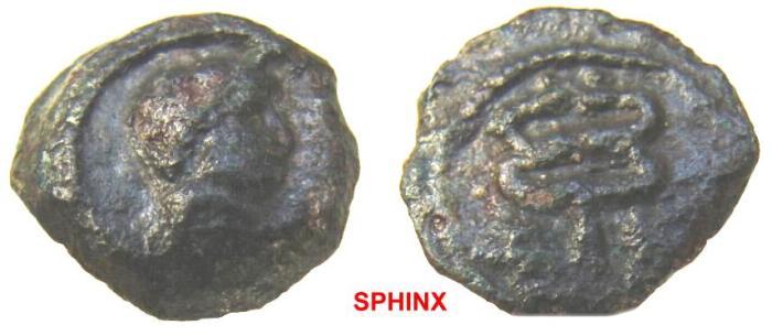 Ancient Coins - 554FR1) EGYPT, Alexandria. Hadrian. AD 117-138. AE Dichalkon (14 mm, 2.4 g, 12h). VF RARE.