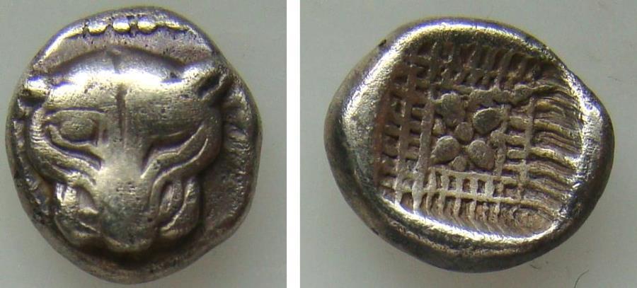 Ancient Coins - 192025-M) GREEK MILETOS/IONIA, late 6th - early 5th century BC,  AR 1/8 Stater (Triobol),   192025-M) GREEK MILETOS/IONIA, late 6th - early 5th century BC,  AR 1/8 Stater (Triobol)