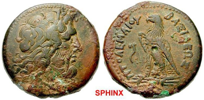 Ancient Coins - 67HH9)  PTOLEMAIC KINGS of EGYPT. Ptolemy III. 246-221 BC. Æ 35mm (36.85 g). Alexandria mint. Head of Zeus-Ammon right, wearing tainia / Eagle standing left on thunderbolt; cornuco