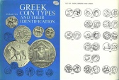 Ancient Coins - 730GCPL) GREEK COIN TYPES AND THEIR IDENTIFICATION BY RICHARD PLANT; Seaby, London, 1979, first edition. Hardcover, laminated boards, 343 pages, thousands of line drawings. Fine