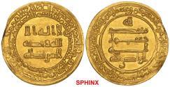 Ancient Coins - 396ECR7X) Abbasid, Third period, Al-Radi 322-329 AH / 934-940 AD, AV Dinar, Misr (Egypt) 323 AH, 4.17 grms, Album type 254.1 without heir, Bernardi 285De, ِ extremely fine.