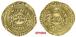 "World Coins - 917GHG19) CRUSADER KINGDOMS: Anonymous, ca. 1200-1260, AV dinar (4.01 grms), ""Misr"" ND, Ma-5, A-730, based on Egyptian dinar of the Fatimid al-Amir, TYPE OF METCALF 119-134, EF-AU."