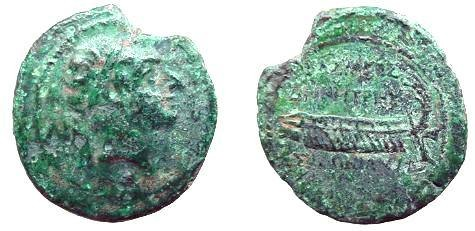 Ancient Coins - 500SLC) SELEUCID EMPIRE, DEMETRIUS II FIRST REIGN, 145-138 BC, AE 20.5 MM, 6.35 GRAMS, MINT OF TYRE, YEAR S.E. 168 = 145/4 BC, SNG ISRAEL # 1684-89, IN FINE/ VF CONDITION.