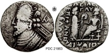 PDC 21863 VOLOGASES III (C. A.D. 105 - 147); BILLON TETRADRACHM;- SELLWOOD 79.2; 12.44 GRMS, 30 MM.  FROM THE BELLARIA COLLECTION