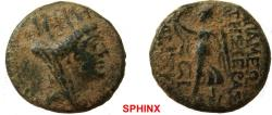 Ancient Coins - 130RR7Z) SELEUKIS and PIERIA, Apameia. 1st century BC. AE (18.5 mm, 5.01 g). Dated 16 = 51-50 BC Turreted and veiled head of Tyche right / Athena Nikephoros standing left; ςI (date