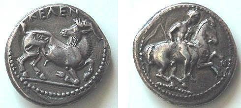 Ancient Coins - KELENDERIS, CIRCA 380-370 BC, AR STATER, 10.29 GRAMS, EX VON AULOCK COLLECTION 5638 THIS COIN.