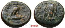 Ancient Coins - 538HM3) PHRYGIA, Synnada. Quasi-autonomous issues. of the time of Augustus 14 AD. Æ 15 mm (4.94 g, 6h). M. Licinius Crassus, proconsul, RARE