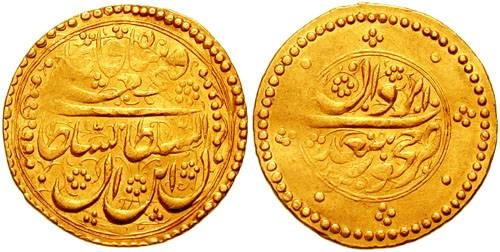 Ancient Coins - IRAN (PERSIA). Fath Ali Shah. 1797-1834. AV Toman (24mm, 4.55 gm). Iravan mint. Dated AH 1235 (1820 AD).