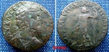 Ancient Coins - 404RM00) MOESIA INFERIOR, MARCIANOPOLIS, SEPTIMUS SEVERUS, 193-211 AD, AE 27 MM, 10.15 GRMS, Laureate head right / Nude Dyionisus standing left, aVF, light green patina, VF