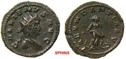 Ancient Coins - 83FB0Z) Gallienus (265-267 AD) Sole Reign, AE Antoninianus 22.5 mm, 4.12 grms, Obverse: GALLIENVS AVG, Radiate head right. Reverse: ABVNDANTIA AVG, Abundantia standing right, empty