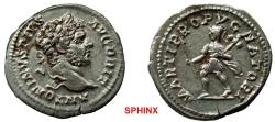 Ancient Coins - 875GL17) Caracalla. AD 198-217. AR Denarius (19.5 mm, 3.44 g, 12h). Rome mint. Struck AD 212-213. Laureate head right / Mars advancing left, holding spear and trophy. aEF