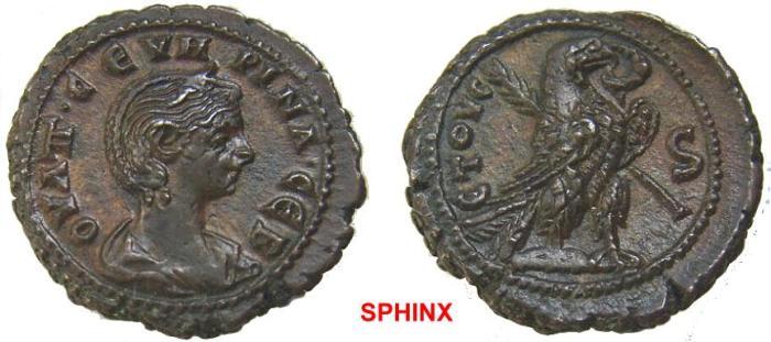 Ancient Coins - 751HM3) EGYPT, Alexandria. Severina. Augusta, AD 270-275. BI Tetradrachm XF