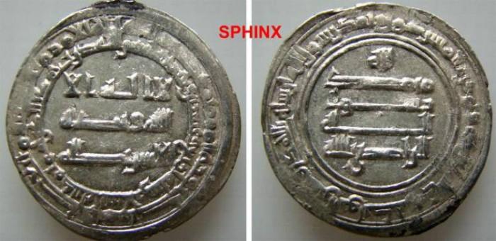 Ancient Coins - 57RL11) THE ABBASID CALIPHATE, THIRD PERIOD, AL-RADI BILLAH, 322-329 AH / 934-940 AD, AR DIRHAM STRUCK AT THE MINT OF MADINAT AL SALAM (PRESENT DAY BAGHDAD) IN THE YEAR 324 AH; ALB