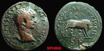 Ancient Coins - 22CK) PISIDIA, ANTIOCH, SEVERUS ALEXANDER, 222-235 AD, LARGE AE 32 MM, 21.22 GRMS, OBV. BUST RIGHT, IMP. CAES. SEV ER. ALEXANDER, REV. COLCAESANTIOCH, ROMAN WOLF AND TWINS,