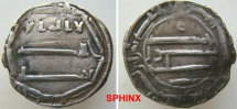 World Coins - 308RL3) THE ABBASID CALIPHATE, FIRST PERIOD : AL-MAHDI, 158-169 AH / 775-785 AD, AR DIRHAM STRUCK AT THE MINT OF AL-ABBASIYA (NORTH AFRICA) IN THE YEAR 162 AH, aVF
