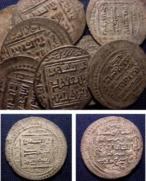 Ancient Coins - STOLEN-   MUZAFFARIDS, SHAH SHJA'A, AR DOUBLE DINARS A-2282.7