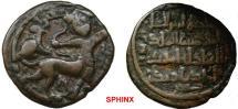 World Coins - 974EL7Z)  Anatolia & al-Jazira (Post-Seljuk). Artuqids (Mardin). Nasir al-Din Artuq Arslan. AH 597-637 / AD 1200-1239. AE Dirhem (27 mm, 9.53 g). Mardin mint. Dated AH 599 (AD 1202