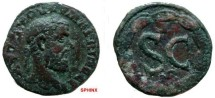 Ancient Coins - 735FG8) SYRIA, Seleucis and Pieria. Antioch. Macrinus. AD 217-218. Æ 19 mm (5.19 grms, 6h). Laureate, draped, and cuirassed bust right / Large S C; D above; E below ; all within la